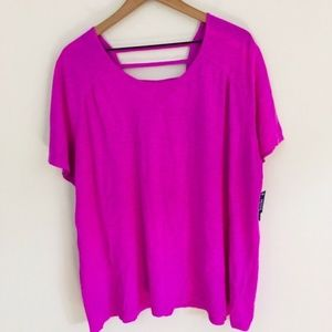 NWT! Catherines Ladder Back Casual Tee 1X